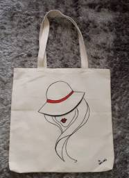 Ecobag estampada Hat Woman