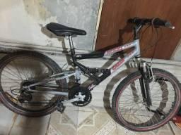 Bicicleta Caloi shok 21v full suspension