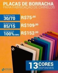 Placa de Borracha para Chinelo 30/70 85/15 100% (SBR)
