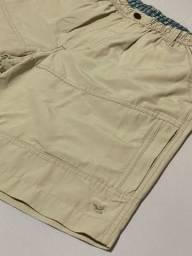 Bermuda Brooskfield Bege Original Tam M (veste G) em Perfeito Estado