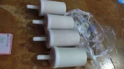 Vela de filtro de barro novos e usados