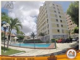 Apartamento com 3 dormitórios para alugar, 66 m² por R$ 1.300,00/mês - Vila União - Fortal