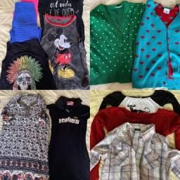 Lote de roupas femininas Jovens P e M 27 peças novas e semi de marca super linda.