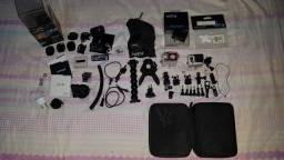 Camera GoPro Hero 3+ Black Edition + Diversos Acessórios