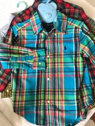 Kit Camisa social infantil Ralph Lauren original