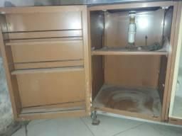 4 em um, geladeira,fogão,pia e armário
