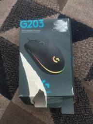 mouse gamer Logitech 203 novo!