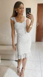 Vestido renda casamento civil