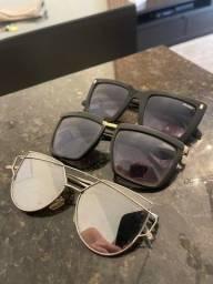 Vendo kit 3 óculos.
