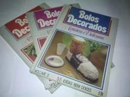 Coleção Bolos Decorados - Artísticos E Deliciosos  c/ 3 Volumes.