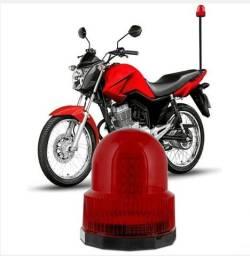 Kit Giroled Sinalizador 60 leds para moto 12v âmbar ou vermelho com  haste