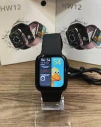 Smartwatch 12 - faz ligação, tem calculadora e senha de bloqueio