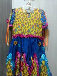 vestido festa junina Tam 6 anos