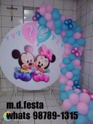 Festa Minnie e Mickey chá revelação