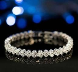 Pulseira Elegante Moda Diamante