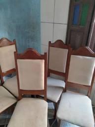 6 cadeiras de anjelin almofadadas
