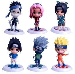 Kit Bonecos Naruto Classico Chibi 6 peças NOVO!