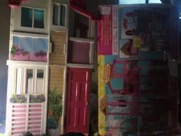 Casa da Barbie três andares usada