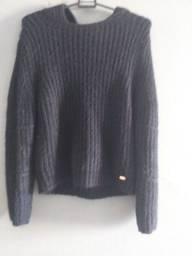 Blusa lã azul marinho Tam u feminino