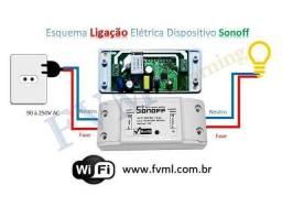 Sonoff-interruptor inteligente Wi-Fi compatível Alexa/Google Assistente