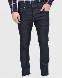 Calça Jeans Wrangler Slim Larston Azul-Marinho tam 46
