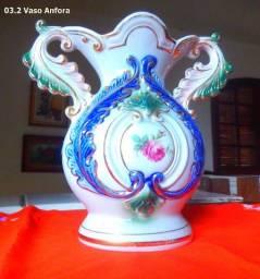 Vaso Ânfora de Porcelana