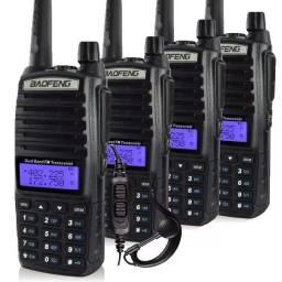 Lote Com 4 Rádio Comunicador Baofeng Uv-82 Dual Band Rádio Fm