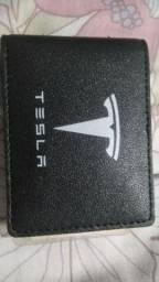 Carteira de coro da Tesla