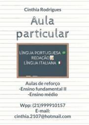 Aula particular- português, redação e italiano