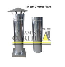 Título do anúncio:  kit Chaminé Churrasqueira pré Fabricada 2 metros Canos 01 Adaptador 01 Chapéu galvanizado