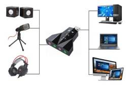 Adaptador placa de som 7.1 Canais USB 2.0