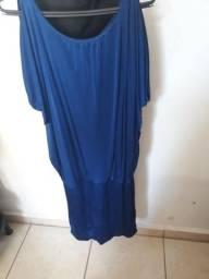 Vestido azul marinho Zinzane