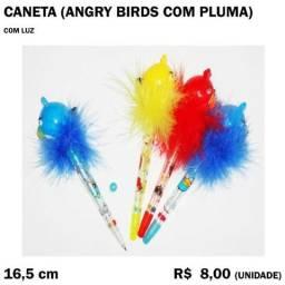 Caneta Angry Birds com Pluma e Luz
