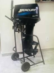 Motor de Poupa Mercury Sea Pro 25/30 a único dono - 2012