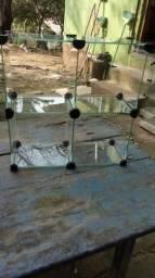 Vendo balcão de vidro temperado e um baleiro de vidro temperado
