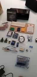 Kit com 2 Arduino, 2 Esp8266, Kit Robocore + Display, Reles E Outros