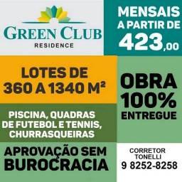 52- Green Club Residence - Lotes 350m² - em condomínio fechado