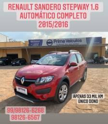 Renault Sandero stepway 1.6 automático completo 2015/2016