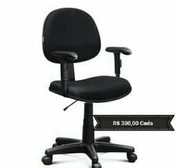 Cadeira para escritório nova: fixa ou giratória