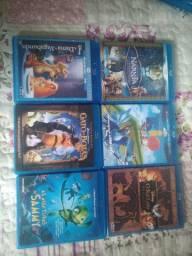 Vários dvd de blu-raydisc quatro por 50 reais