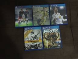 Vendo FIFA 16, 17, 18, Sniper Elite 3 Ultimate Edition e Far Cry Primal para PS4!