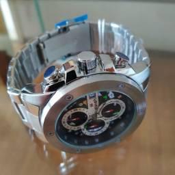 Relógio Swish - Aço Inox Todo Funcinal