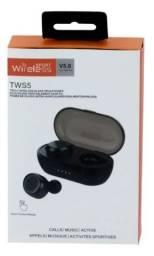 Fone de ouvido sem fio bluetooth 5.0 TWS-5