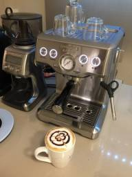 Cafeteira expresso + moedor inox Tramontina by Breville 220V