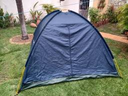 Barraca de camping azul 3 pessoas conservada