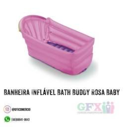 Banheira Inflável Bath Buddy Rosa Baby comprar usado  São Luís