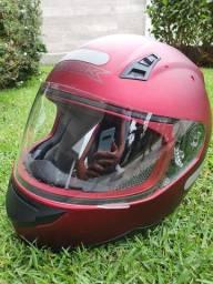Capacete moto norisk top vermelho fosco!