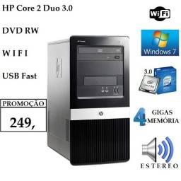 Computador HP Top Core 2 Duo 3.0 4 gb memoria dvd Internet sem Fio