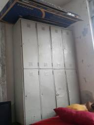 Em aço armário grande de 8 porta