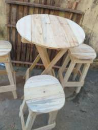 Mesa bistrô Banco de abrir  feixar  mesa com berao